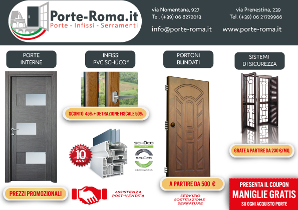 Promozioni su porte e finestre porte e finestre roma for Offerta finestre pvc